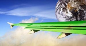 Grüne Flugzeugtragfläche