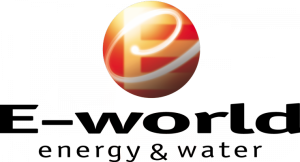Logo der E-World