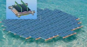 Schwimmendes Solarkraftwerk; Bild: Youtube (Videoscreenshot)