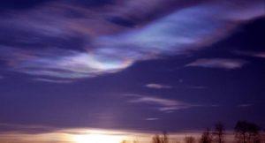 Polare Stratosphärische Wolke in der Arktis; Foto: Ross J. Salawitch, University of Maryland