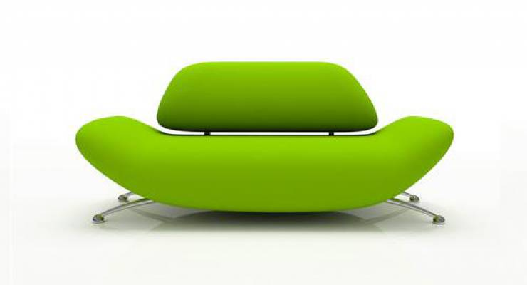 grünes Sofa; Bild: shutterstock