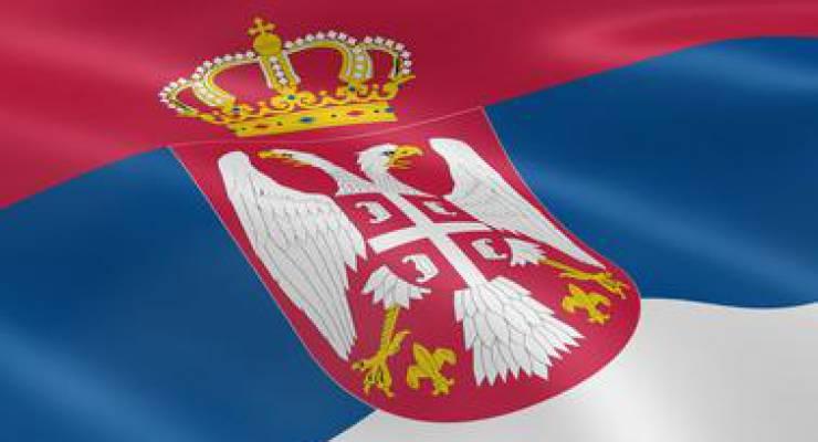 Serbische Flagge; Foto: shutterstock
