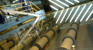 Optische Qualitätskontrolle von AGC Glas in einer europäischen AGC Fabrik
