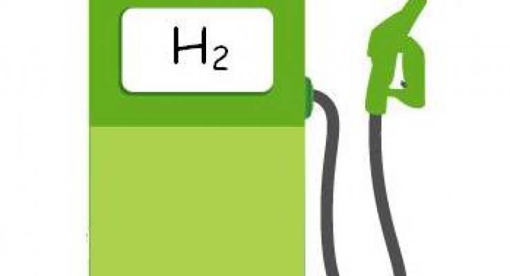 Wasserstofftankstelle; Bild: shutterstock (Montage)