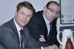 Jens Oberländer ist bei Vattenfall der Leiter Netzinnovation daneben Rolf Adam, Director Sales Business Development Europe von Cisco