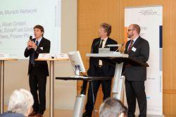 Thoms Korn von Alset, Stephan Rieke, SolarFuel und Markus Rindchen von Power Plus Communikation und Sprecher von IEEE-SA