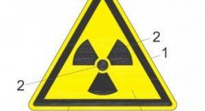 Warntafel für radioaktive Strahlung; Bild: Dr. Rudi Danz