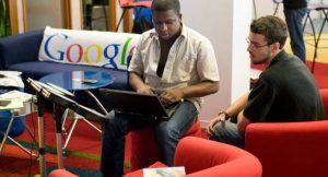 Bei Google in Chicago; Foto: Google