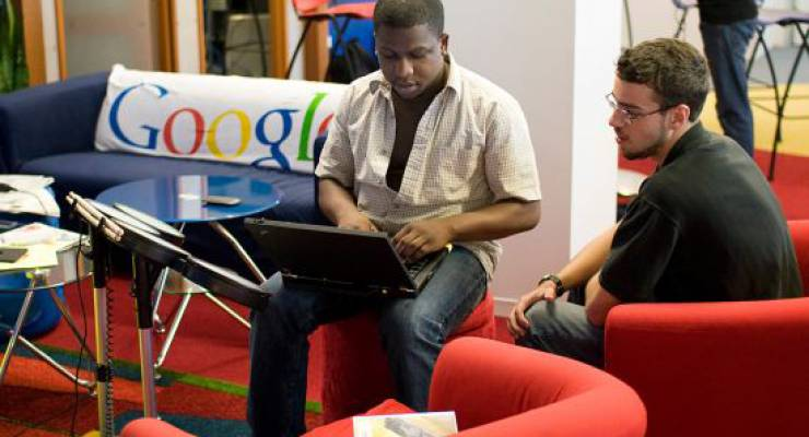 Bei Google in Chicago; Foto: Google