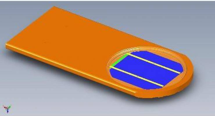 SolArod Tile; Bild: SolArod Vertical Photovoltaic Systems i.G.