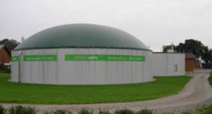 Biogasanlage; Foto: Hubert Fröhlich (Wiki Commons)