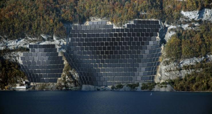 Die Photovoltaikanlage im Steinbruch Schnür könnte Solarstrom für rund 1400 Haushalte produzieren