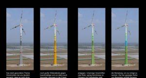 Farbige Windkraftanlagen; Foto: STUDIO VON GARNIER