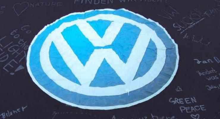 VW-Plane von Greenpeace