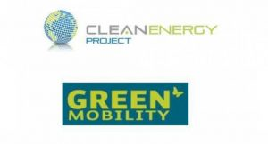 Logo von CleanEnergy Project und GreenMobility