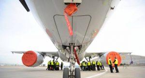 Elektromotoren an einem Flugzeug des Typs A320