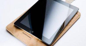 Hülle für iPad aus patentiertem Papierverbundmaterial