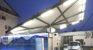 Solare Wasserstofftankstelle