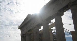 Akropolis in der Sonne