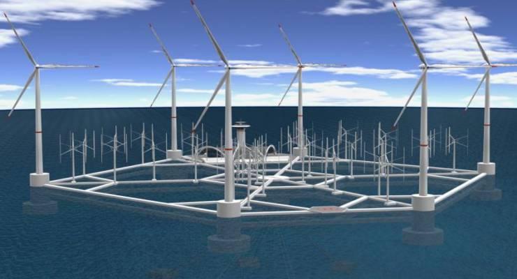 Schwimmende Windkraftanlage von Hexicon