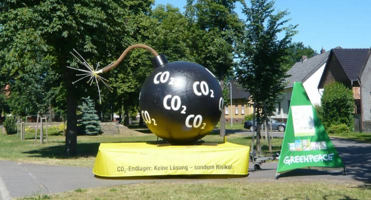 Protest gegen das von Vattenfall geplante CO2-Endlager