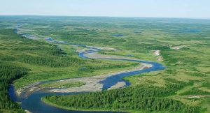 Fluss in Nordsibirien