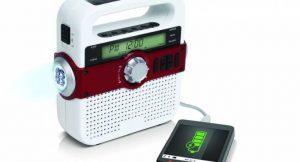 FR370 - Kurbelradio mit USB-Ladeausgang und Solarmodul