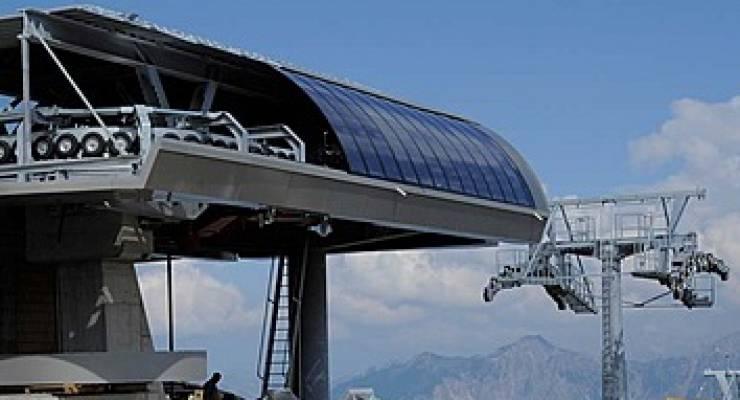 Photovoltaik-Sesselbahn