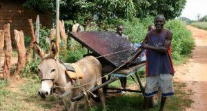Transport einer Solaranlage...