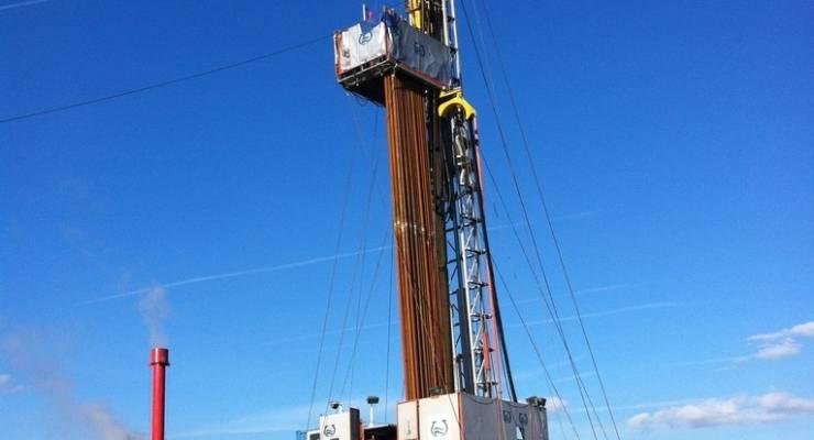 Bohranlage der Geothermie in Ismaning