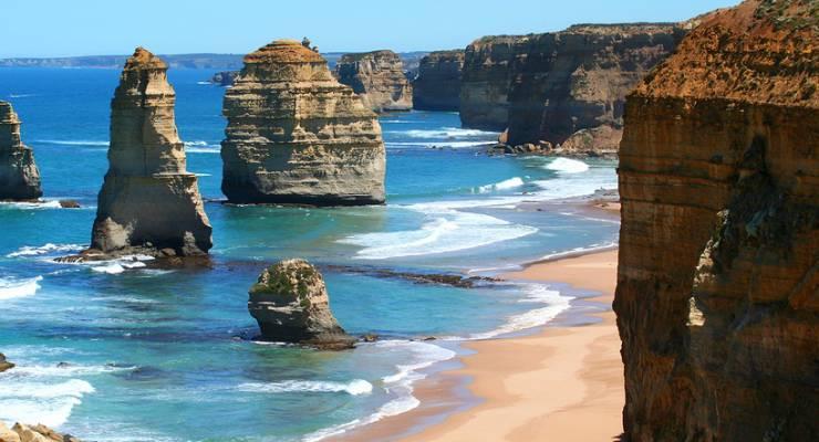 Felsige Küste von Victora, Australien