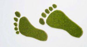 Grüne Fußabdrücke
