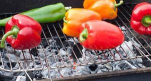 Paprike auf dem Grill