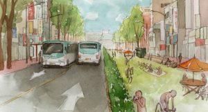 Die Jeongjo-Straße nach der Umgestaltung