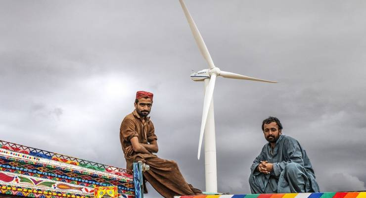 Windpark in Pakistan