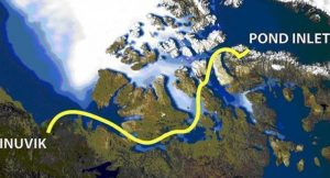 Northwest Passage route map