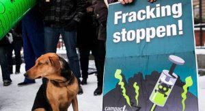 Demo gegen Fracking