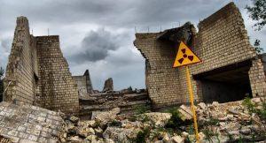 Verlorene Stadt in der Nähe von Tschernobyl-Gebiet