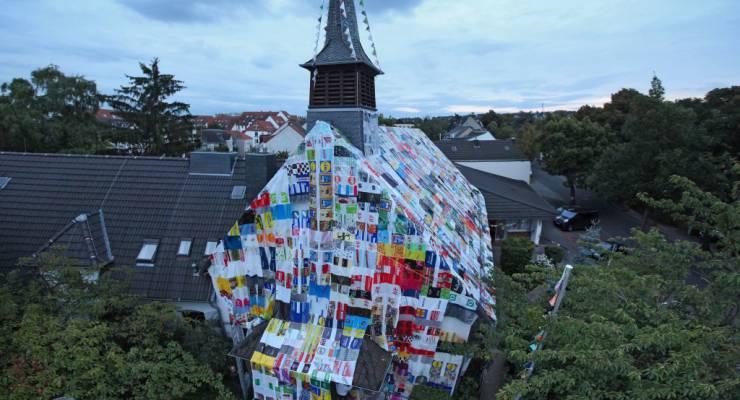 Verhüllung der Johanniskirche Bonn-Duisburg