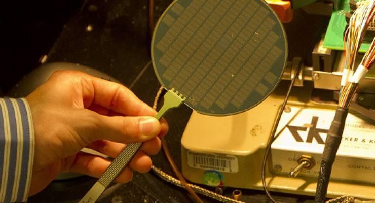 Ein Wafer aus Kohlenstoff-Nanoröhren