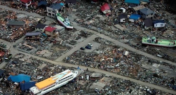 Katastrophengebiet nach einem Tsunami