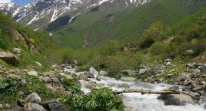 Gebirgsbach in Tadschikistan
