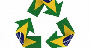 Recycling-Symbol Flagge