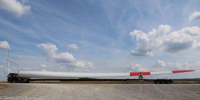 Windpark Massbach - Anlieferung