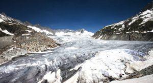 Der Rhône-Gletscher geht seit Jahren stark zurück