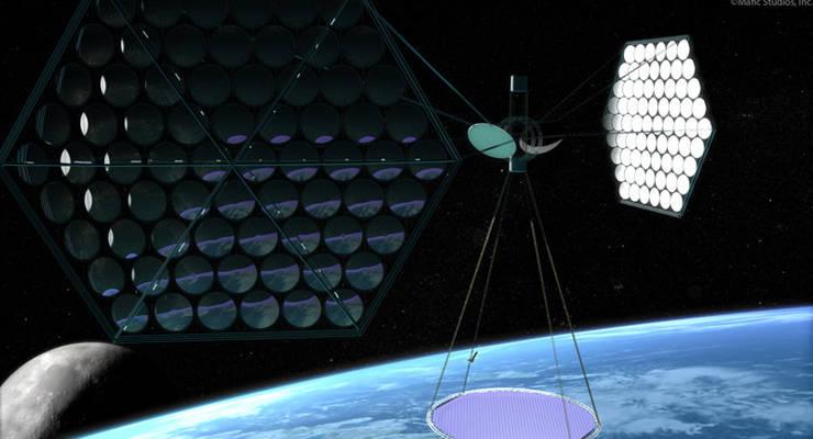 So könnte die orbitale Solaranlage aussehen.