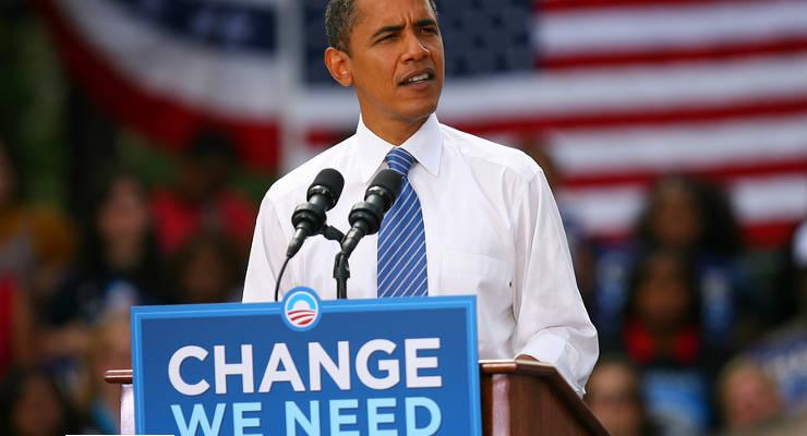 Barack Obama sagte in seiner wöchentlichen Rede: Es gibt keine größere Bedrohung als den Klimawandel.