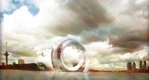 So soll der Windkraft-Wolkenkratzer einmal aussehen.
