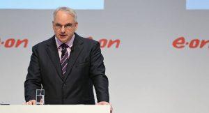 E.on Chef Teyssen bei der Pressekonferenz zur neuen Strategie des Konzerns.
