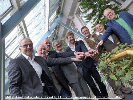 PK Mittelstand Unternehmen Frankfurt Unternehmergruppe mit Christian Felber